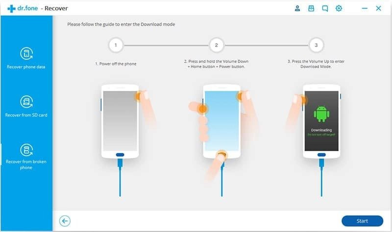 Android Données Récupération Étape 17