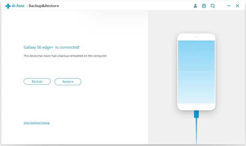 Android Données Sauvegarde et Restauration Étape 1