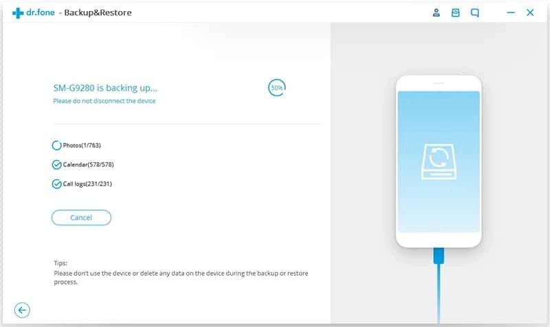 Android Données Sauvegarde et Restauration Étape 3