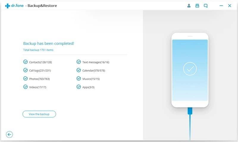 Android Données Sauvegarde et Restauration Étape 4