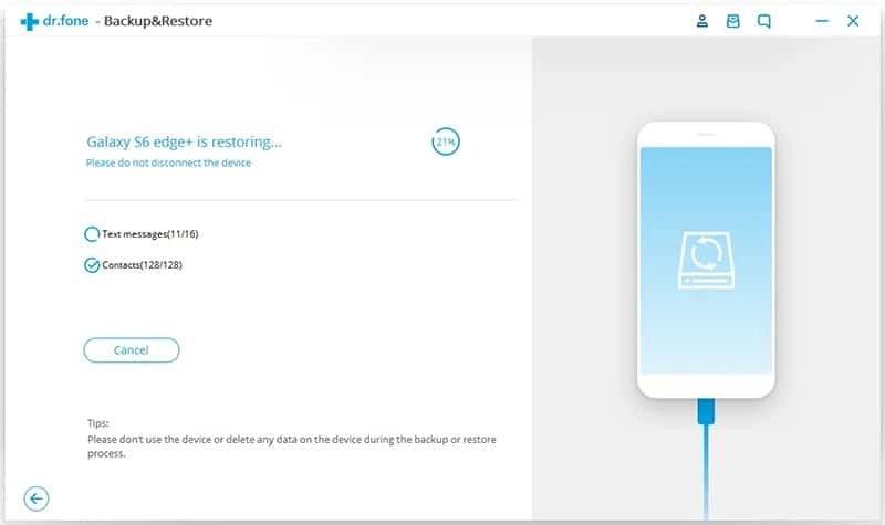 Android Données Sauvegarde et Restauration Étape 7