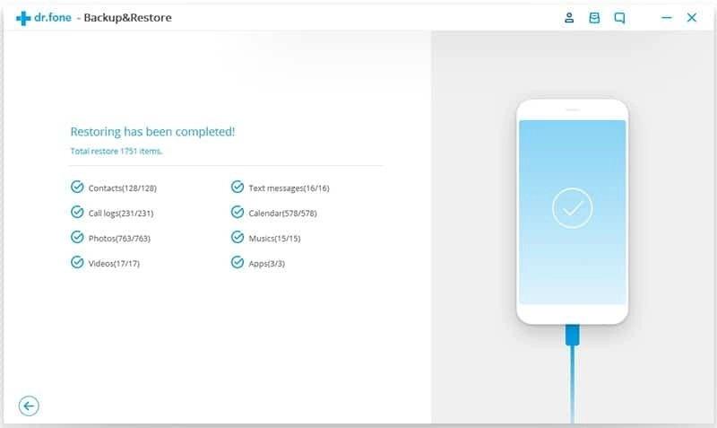 Android Données Sauvegarde et Restauration Étape 8