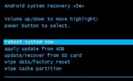 Mode de récupération Android